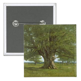 The Oak of Flagey, called Vercingetorix 2 Inch Square Button