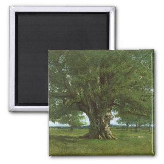 The Oak of Flagey, called Vercingetorix 2 Inch Square Magnet