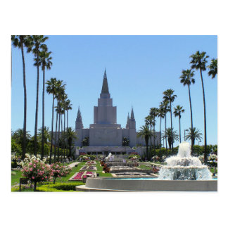 The Oakland California LDS Temple Postcard