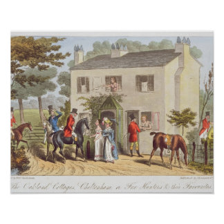 The Oakland Cottages, Cheltenham, or Fox Hunters a Poster