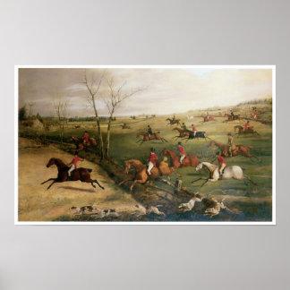 The Oakley Hunt, Henry Thomas Alken Poster