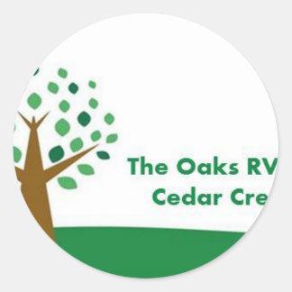 The Oaks RV Park Classic Round Sticker