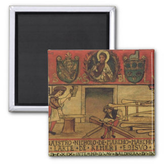 The Oar Makers (panel) 2 Inch Square Magnet