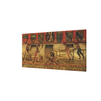 The Oar Makers (panel) Canvas Print
