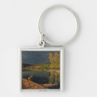 The Oarsman, 1897 Silver-Colored Square Keychain