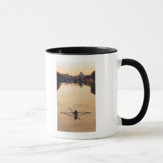 """The Oarsman"" Tiber River Watercolor Mug"