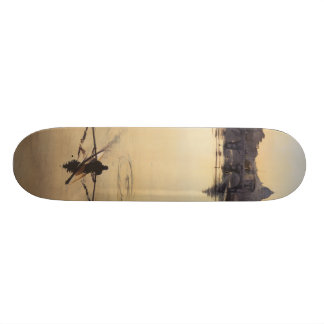 """The Oarsman"" Tiber River Watercolor Skateboard"