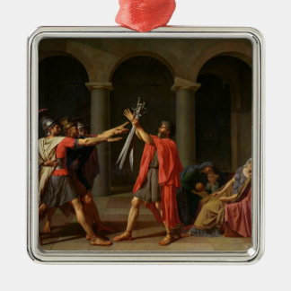 The Oath of Horatii, 1784 Metal Ornament