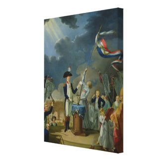 The Oath of Lafayette Canvas Print