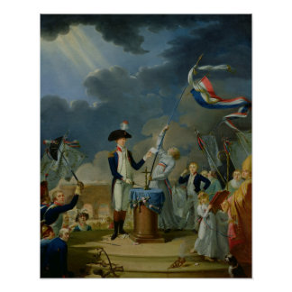 The Oath of Lafayette Poster