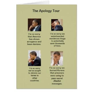 The Obama Apology Tour Birthday Card