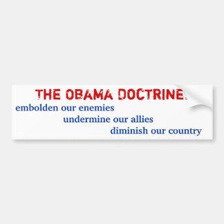 The Obama Doctrine Bumper Sticker