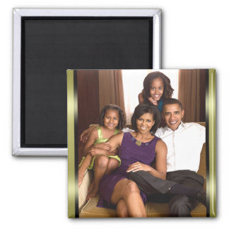 The Obama Family 2 Inch Square Magnet