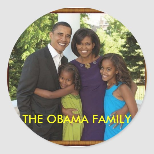 THE OBAMA FAMILY CLASSIC ROUND STICKER