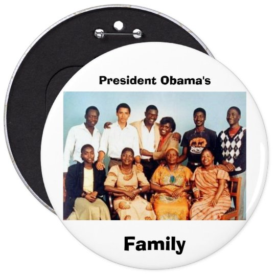 The Obama Family - Customized Button