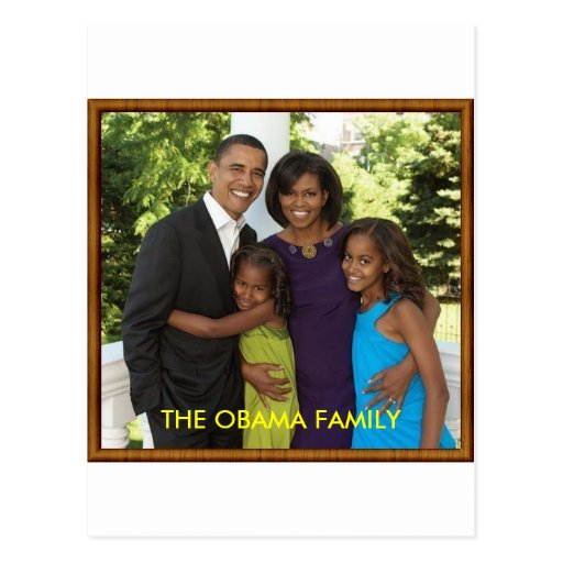 THE OBAMA FAMILY POST CARD