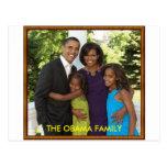 THE OBAMA FAMILY POSTCARD