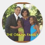 THE OBAMA FAMILY ROUND STICKERS