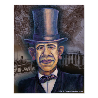The Obama - Lincoln Parallel Poster