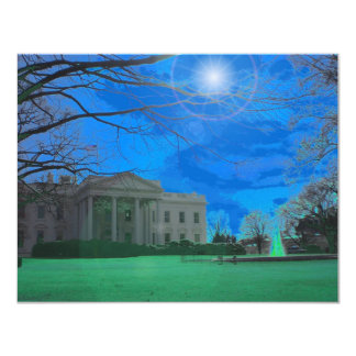 The Obama Residence 4.25x5.5 Paper Invitation Card