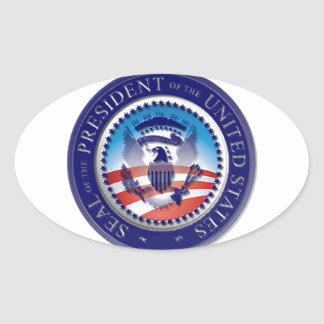 The Obama Seal Oval Stickers