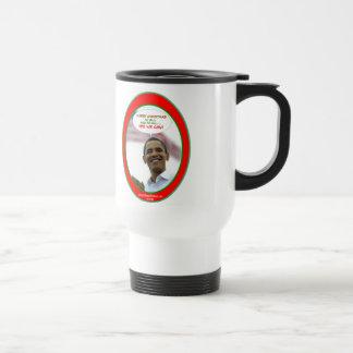 the Obama Yes We Can Christmas Travel Mug