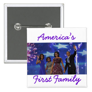 The Obamas: America's 1st Family Pinback Button