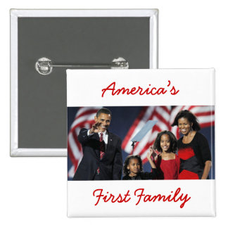 The Obamas: America's First Family 2 Inch Square Button