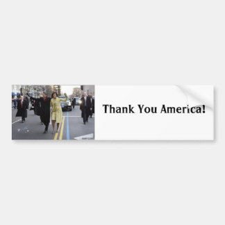 the obamas, Thank You America!, Bumper Sticker