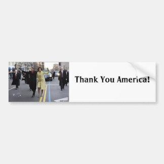 the obamas, Thank You America!, Car Bumper Sticker