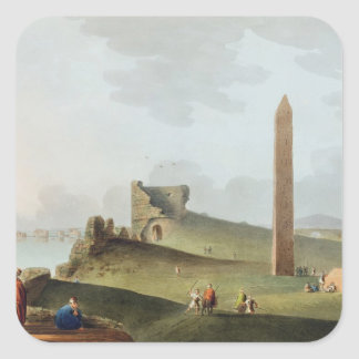 The Obelisks at Alexandria, called Cleopatra's Nee Square Sticker