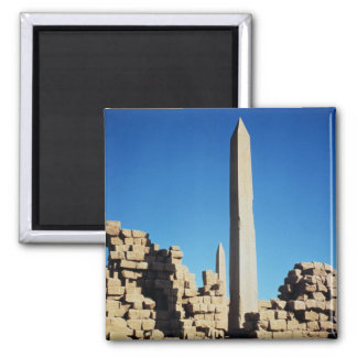 The Obelisks of Tuthmosis I  and Hatshepsut 2 Inch Square Magnet