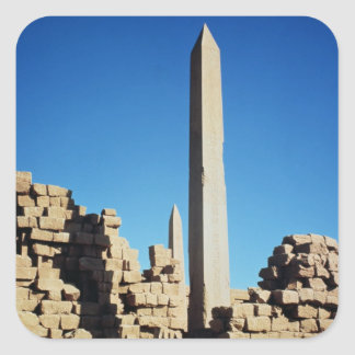 The Obelisks of Tuthmosis I  and Hatshepsut Square Sticker