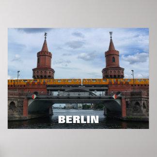The Oberbaum Bridge, BERLIN Poster