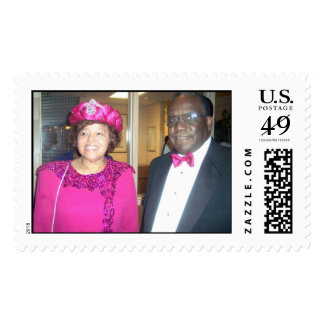 The Obies Rev & Auntie Postage Stamp