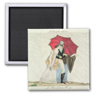 The Obliging Umbrella, plate 40 from 'Le Bon Genre Magnet
