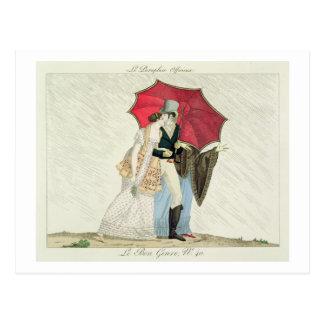 The Obliging Umbrella, plate 40 from 'Le Bon Genre Postcard