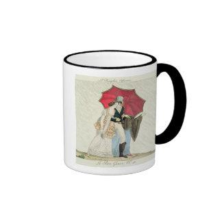 The Obliging Umbrella, plate 40 from 'Le Bon Genre Ringer Mug