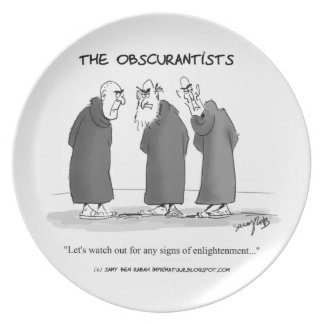 The Obscurantists Dinner Plate