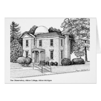 The Observatory, Albion College, Albion Michigan Greeting Cards
