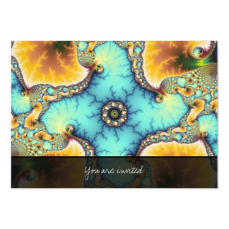 The Observer - Fractal 5x7 Paper Invitation Card