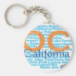 The OC - Orange County, California Keychain