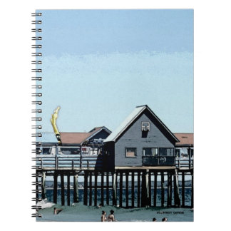 The Ocean and Pier and Old Orchard Beach Maine Notebook