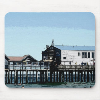 The Ocean and Pier at Old Orchard Beach Maine Mouse Pad