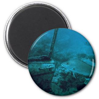 The Ocean Floor 2 Inch Round Magnet