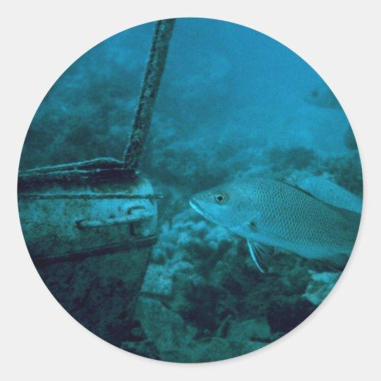 The Ocean Floor Classic Round Sticker