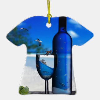 the-ocean-in-to-glass Double-Sided T-Shirt ceramic christmas ornament