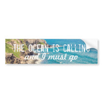 The Ocean is Calling - Maui Coast | Bumper Sticker