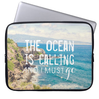 The Ocean is Calling - Maui Coast | Laptop Sleeve