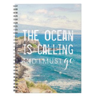 The Ocean is Calling - Maui Coast | Notebook
